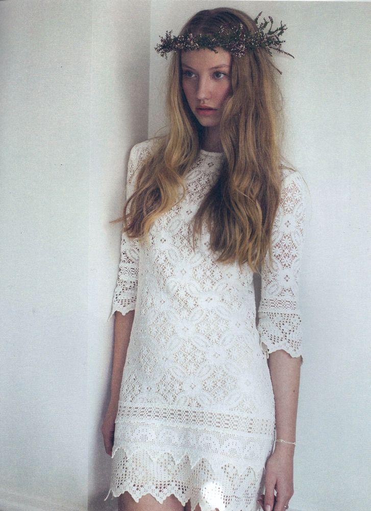 Vintage crochet antique lace mini bridesmaid dress Make dresses from ...