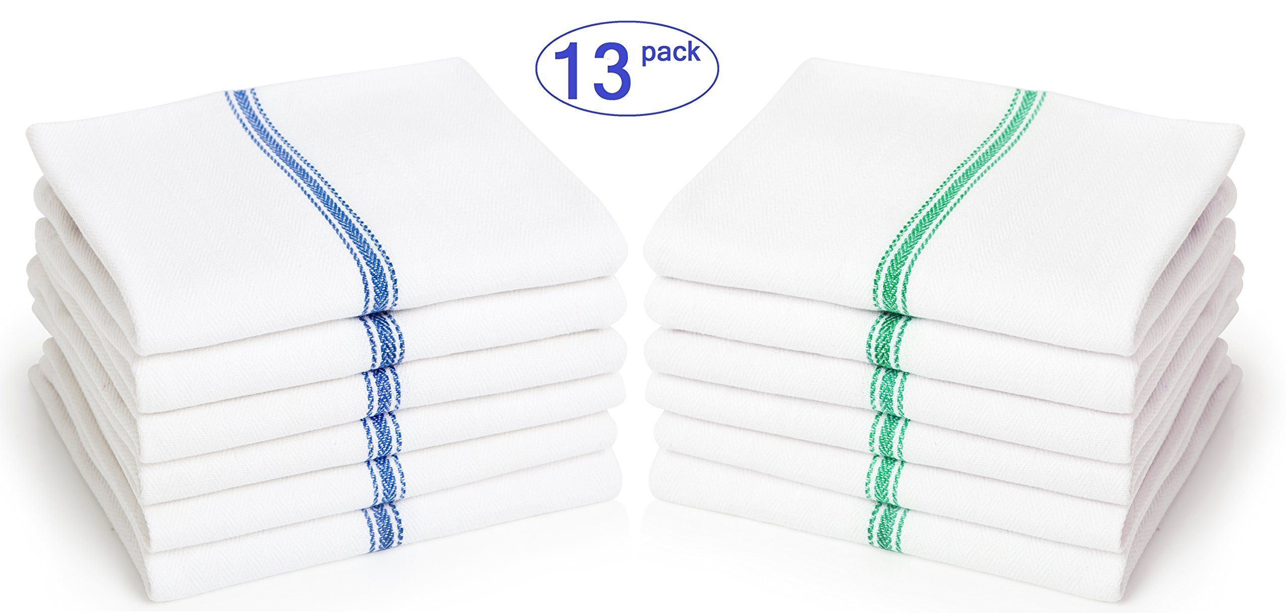 Absorbent White Kitchen Towels