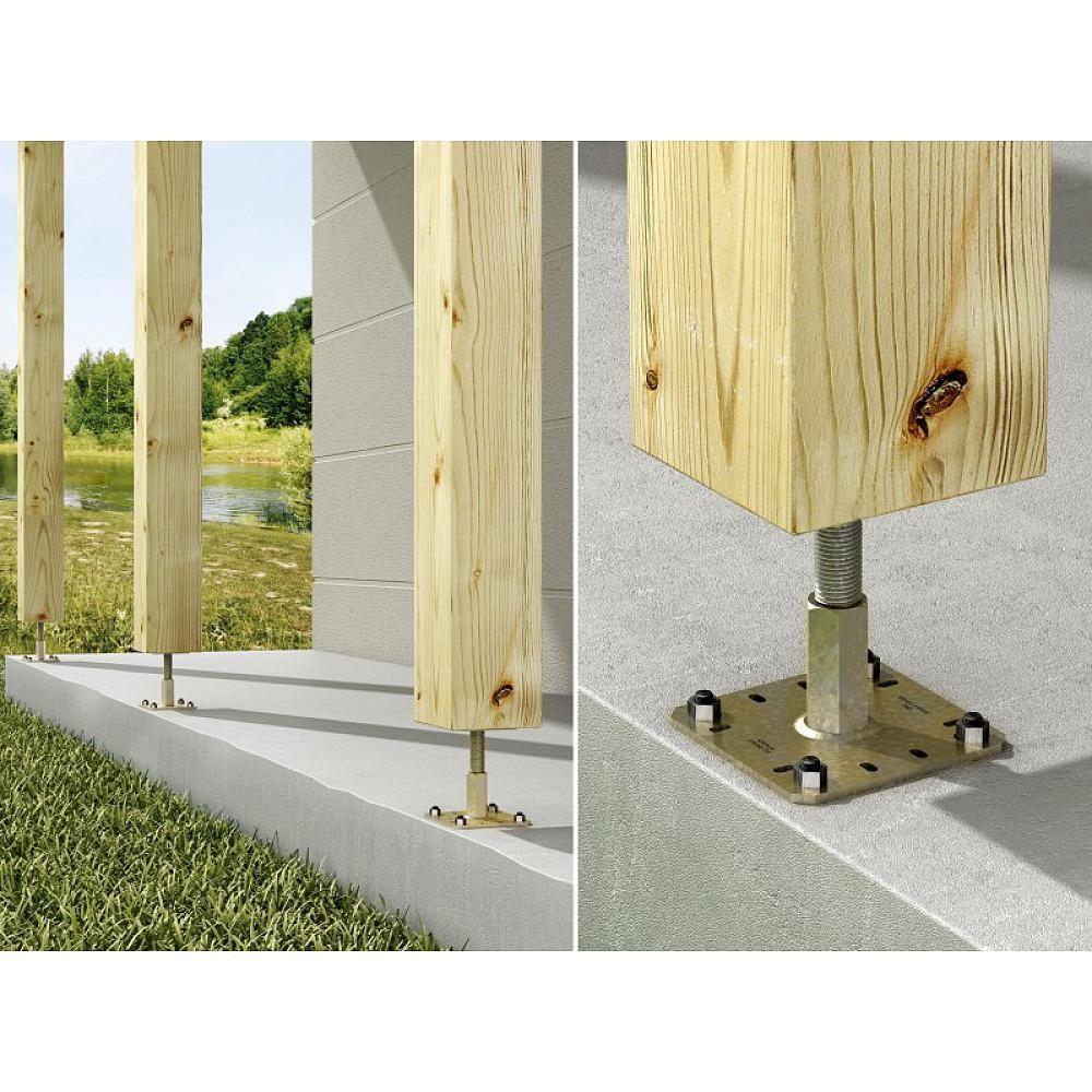 pied de poteau r glable pprc simpson strong tie support de structures pinterest poteau. Black Bedroom Furniture Sets. Home Design Ideas