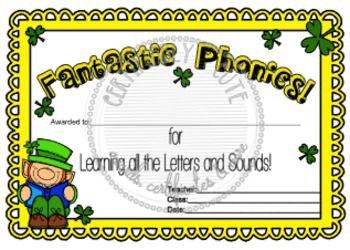 Phonics Certificate