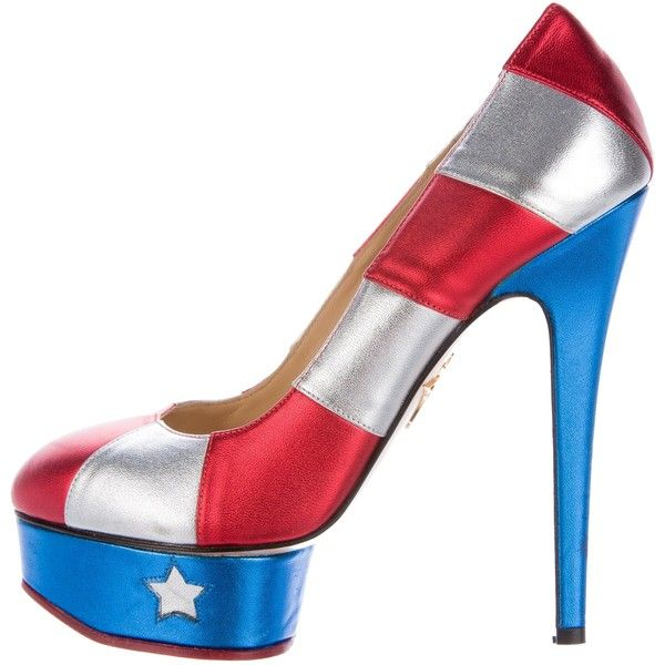 Pre-owned - Blue Heels Charlotte Olympia KNp7avZLr
