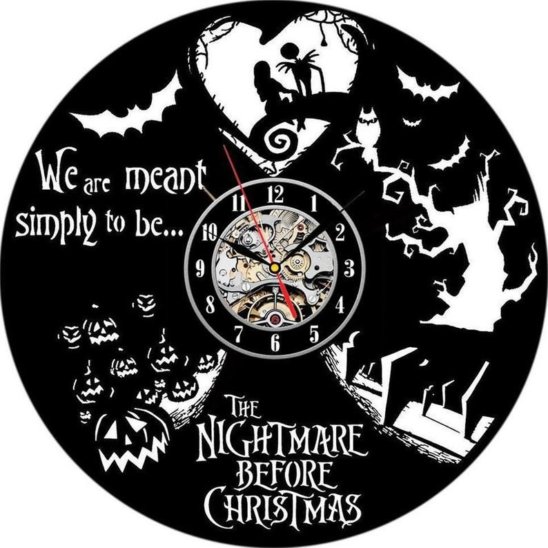 Cool Nightmare Before Christmas Gifts: Nightmare Before Christmas Gift Modern Wall Clock