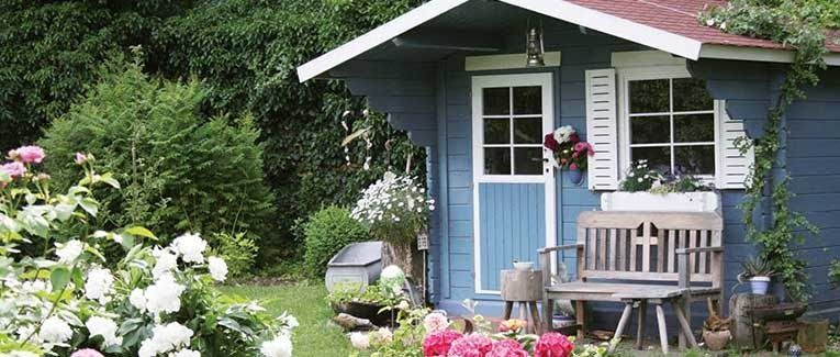 Gartenhaus Blau Outdoor decor, Home decor, Decor