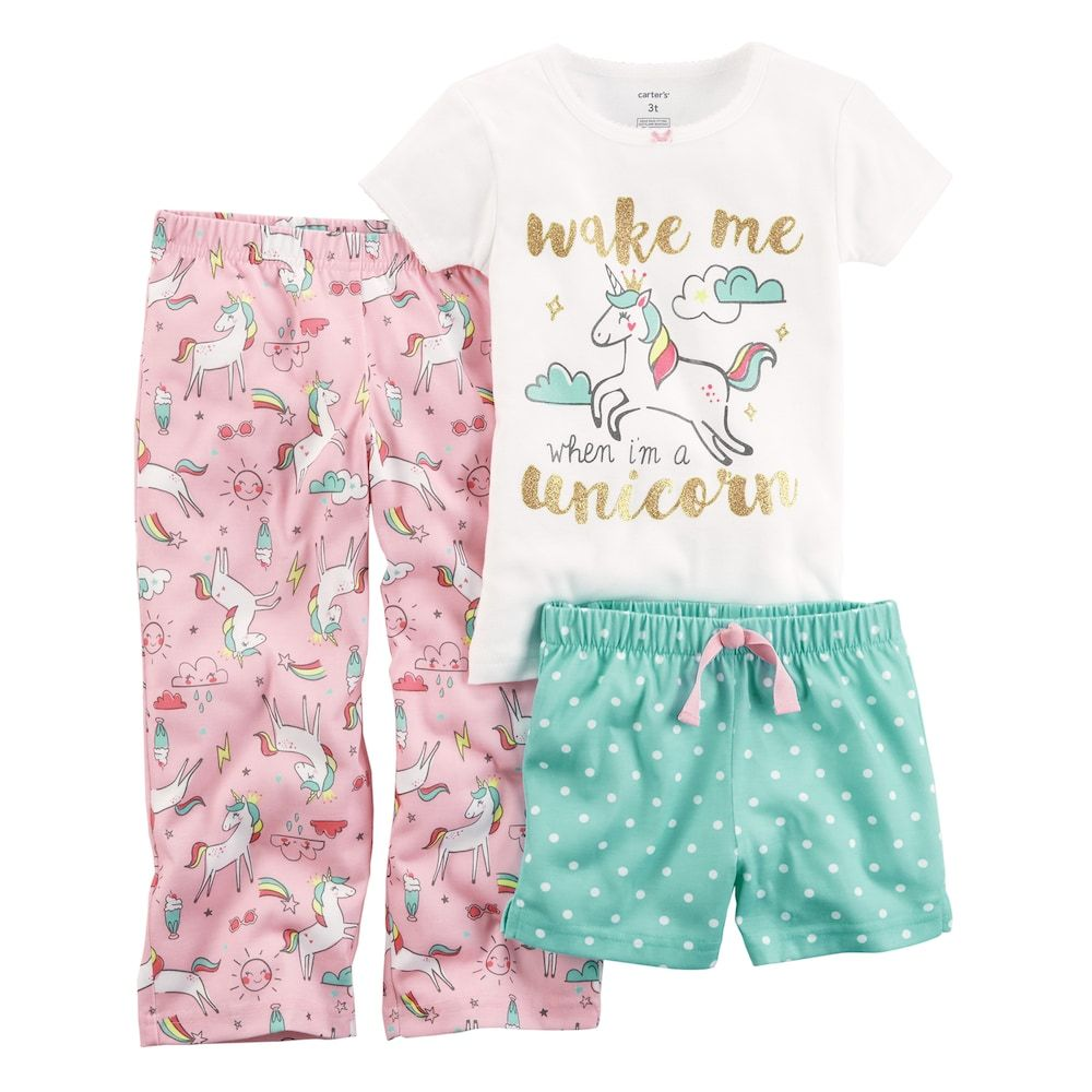 54151e6084aa Girls 4-14 Carter s 3-pc. Pajama Set in 2018