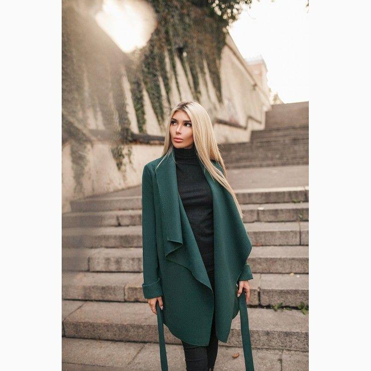 b835e9b4cc07e6 Coat with Belt in Green | Winter fashion | Fashion, Vintage street ...