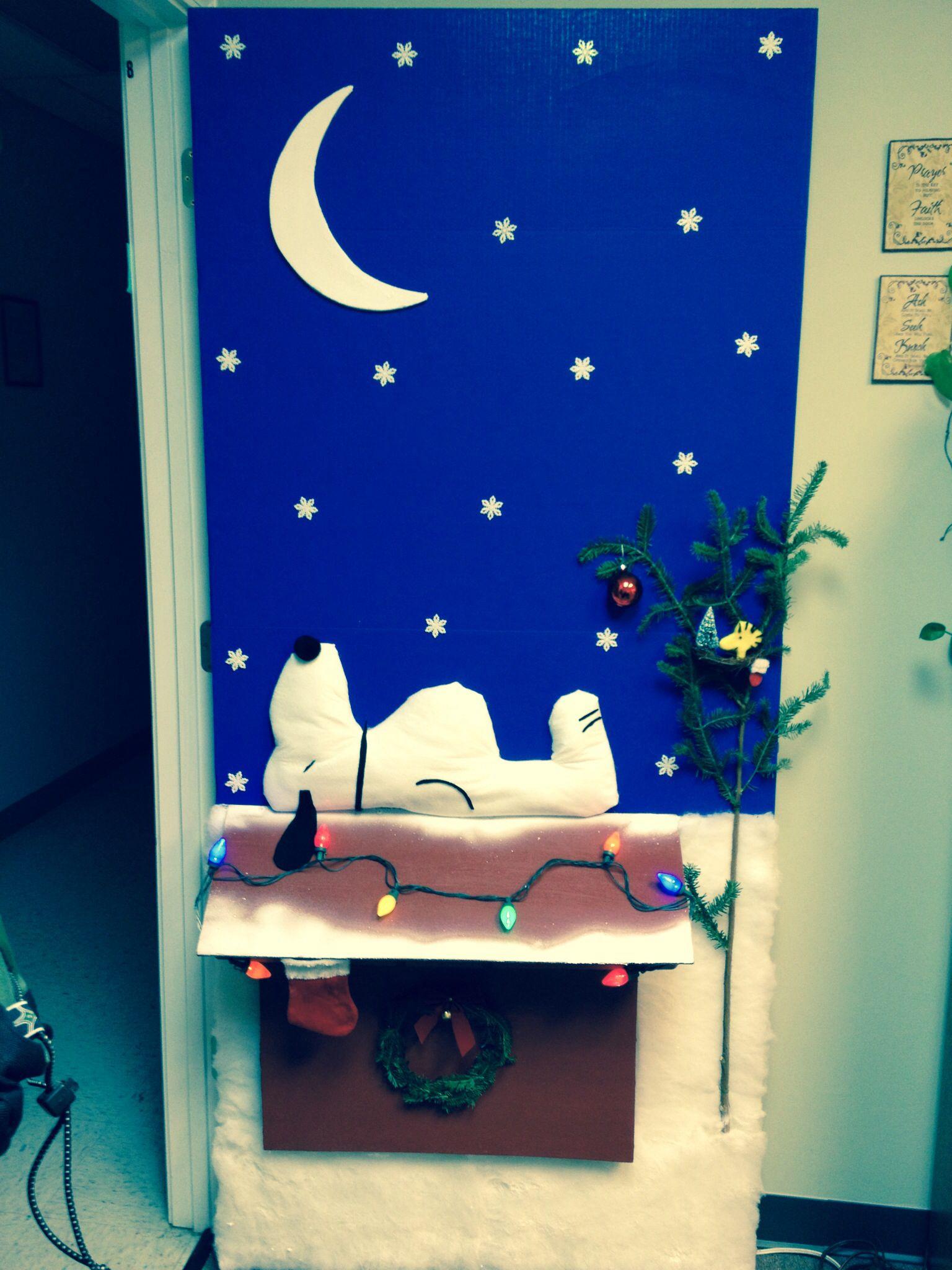 charlie brown christmas door decorating contest - Charlie Brown Christmas Decorations