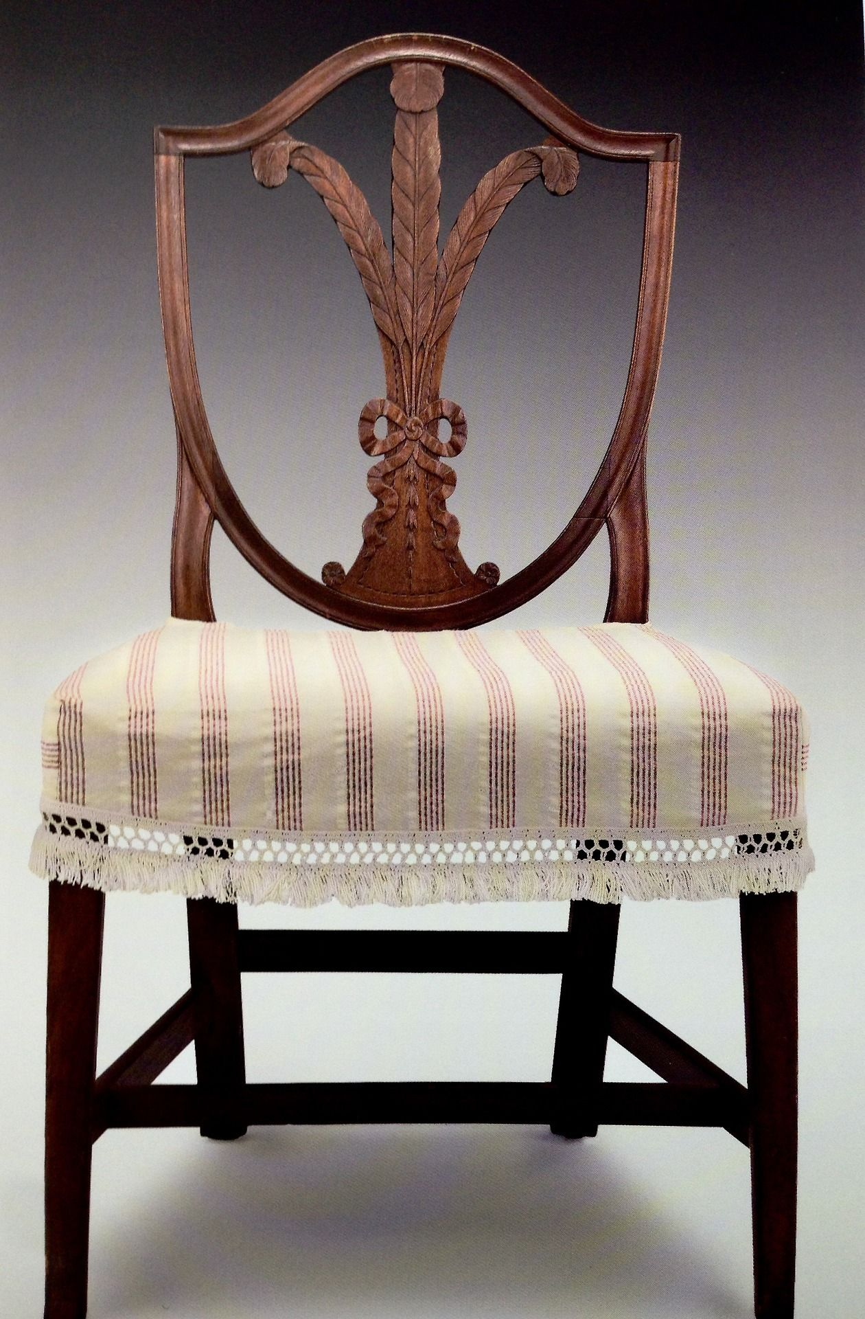 Side Chair Made In Salem In About 1795 With Carving By Samuel
