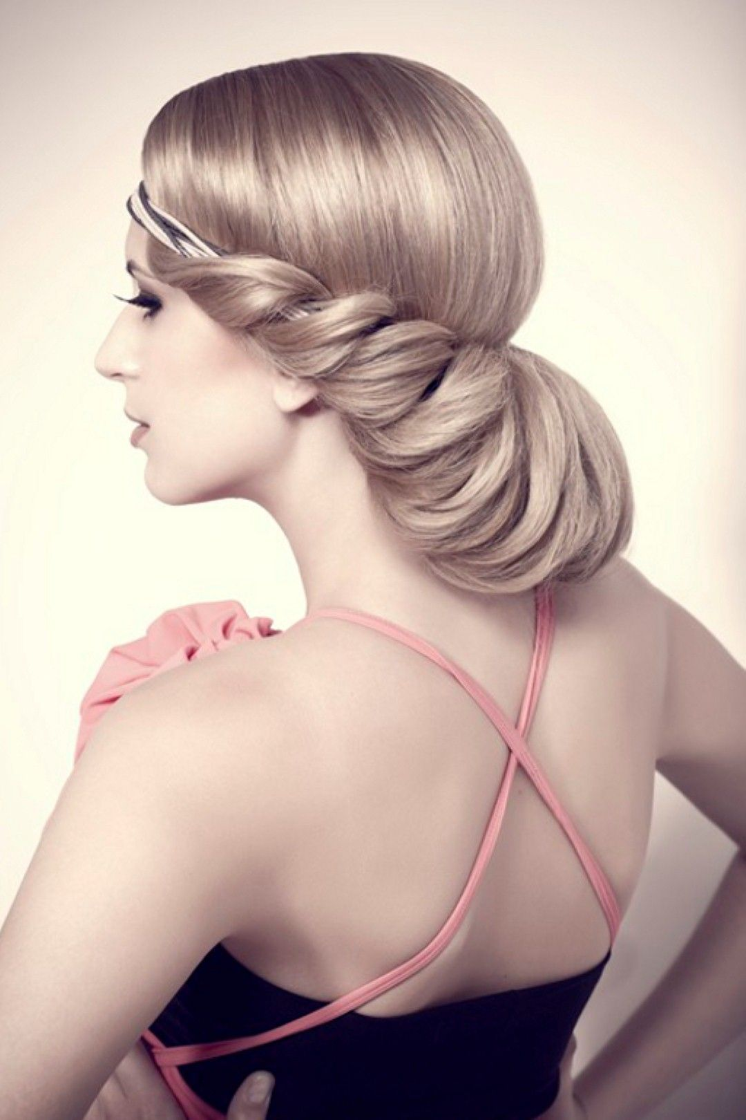 Wedding Hairstyles for Long Hair Twisted Low Updo | Celeberity Style ...
