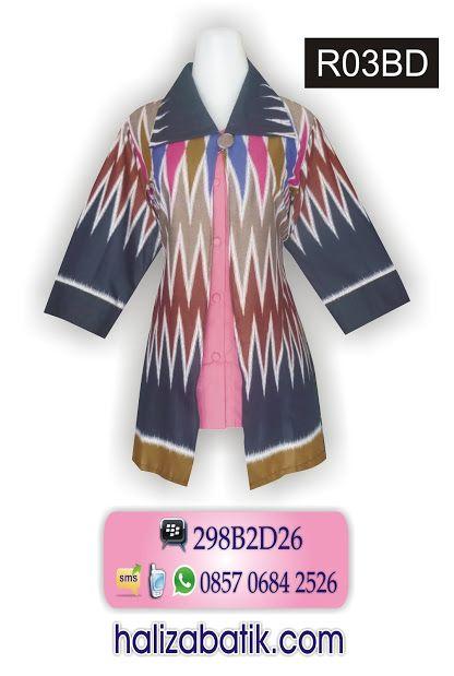 Blus Batik Rangrang Model Bolero Sambung Kombinasi Kain