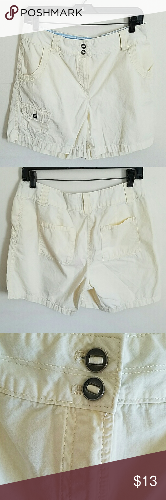 """Van Heusen 100% Cotton Shorts Van Heusen 100% Cotton Shorts. Size 6. Inseam is Approximately 5 1/2"""". These are a Beautiful Pale Yellow. Great Condition. Van Heusen Shorts"""