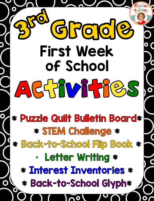 First Week Of School Activities For 3rd Grade Kirstens Teachers