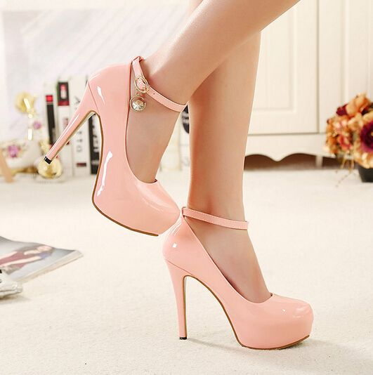 bd10641d19eb Pink Ankle Strap Design High Heels Fashion Shoes | Pink | Shoes ...