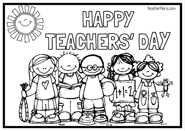Teachers Day Coloring Pages You'll Love