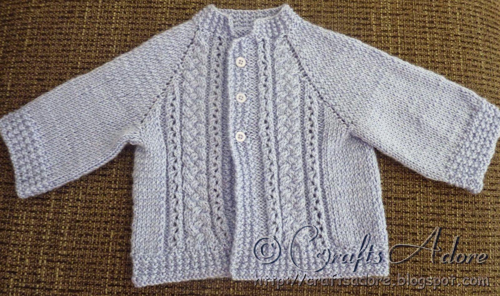 Knitted Baby Boy Cardigan Free Pattern | Knit, Crochet, Etc ...