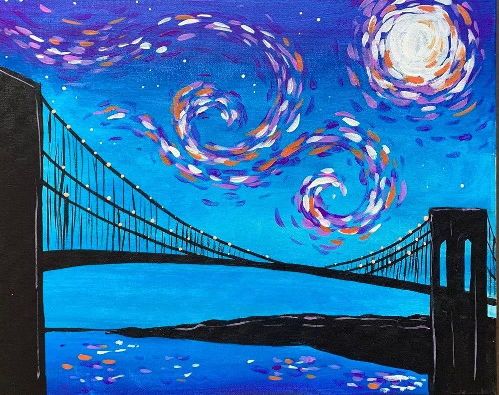 Starry Brooklyn Bridge – Paint at Home Kit – Single