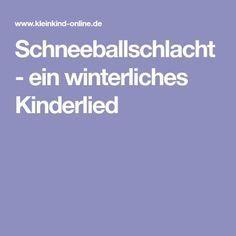 Schneeballschlacht – ein winterliches Kinderlied – Elke Grohnert