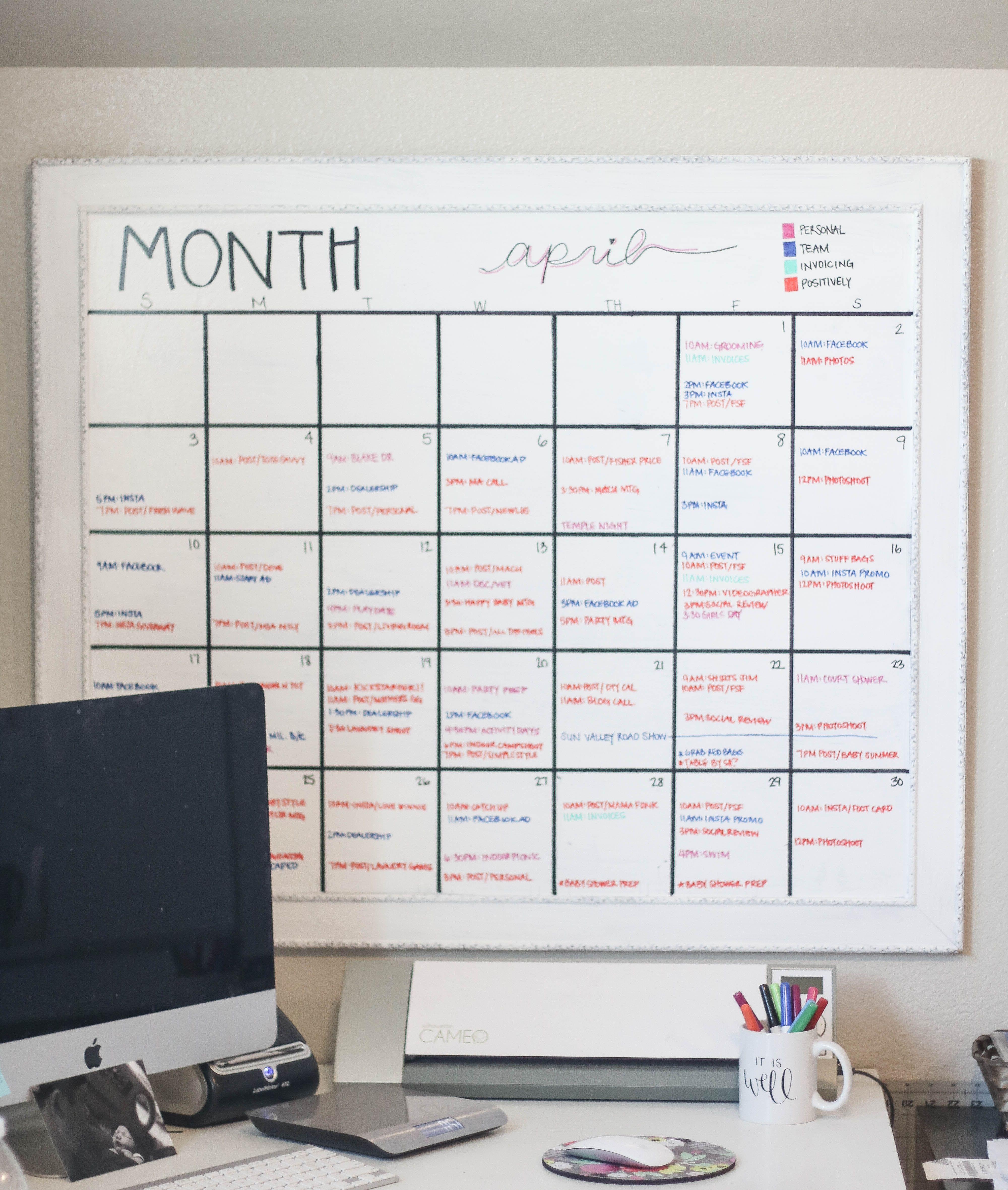 Diy Whiteboard Calendar Whiteboard Calendar Diy Whiteboard Diy