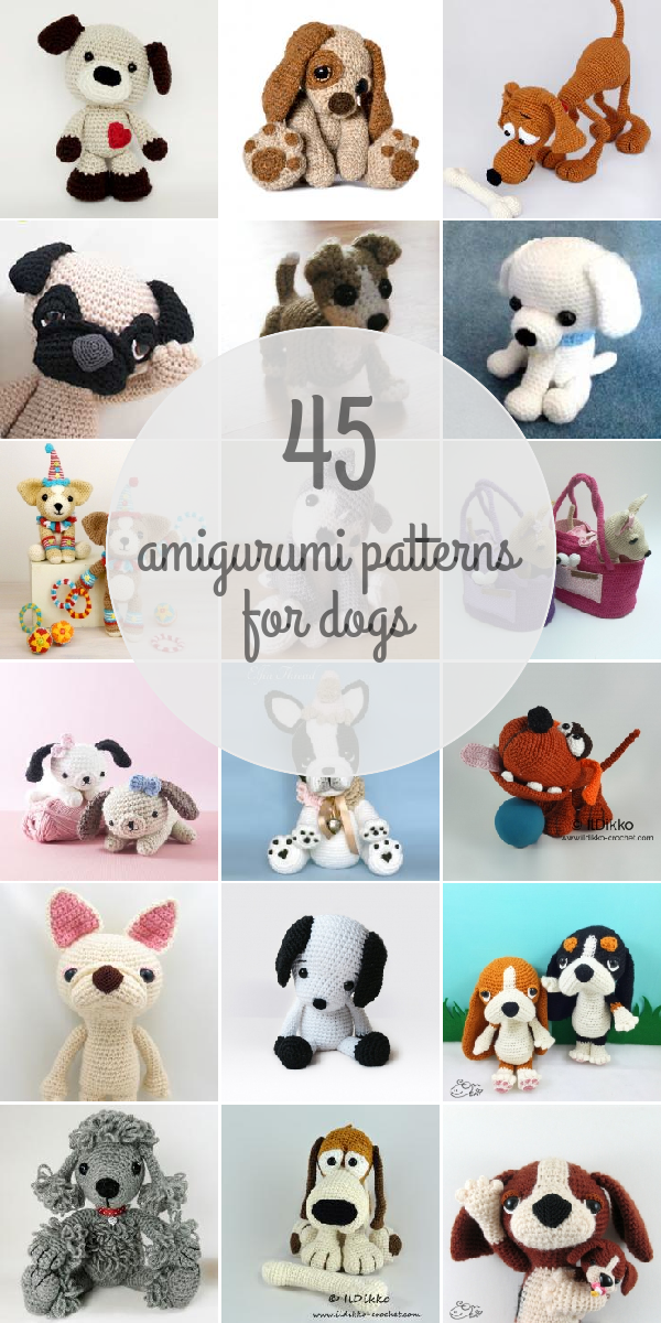 Dogs Amigurumi Patterns | Amigurumi | Pinterest | Häkeln, Tiere ...