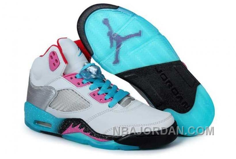 cf97442f3f0ed8 http   www.nbajordan.com nike-air-jordan-5-mens-white-pink-blue-shoes.html  NIKE AIR JORDAN 5 MENS WHITE PINK BLUE SHOES Only  84.00