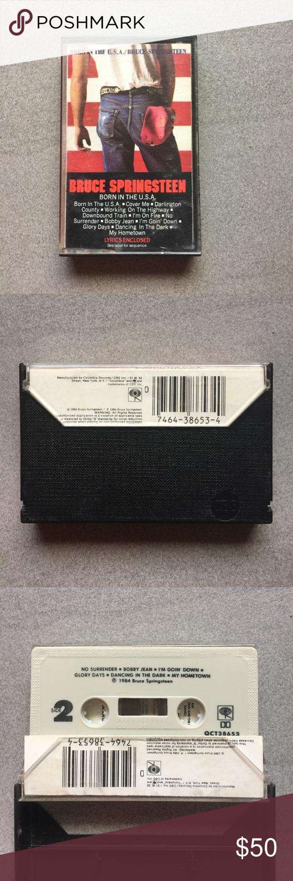 Bruce Springsteen Born In The USA Cassette Tape Bruce