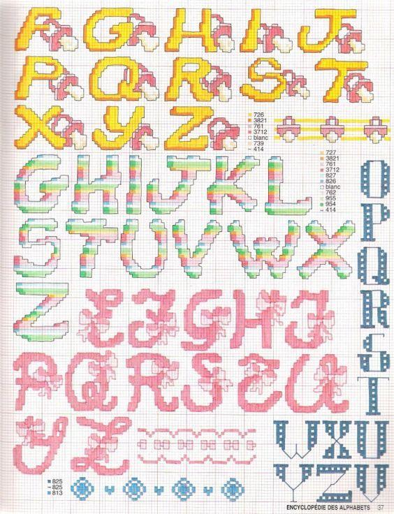 Alfabeto Punto Croce Bimbi Fiocco Ciuccio 2 Baby Pillowcase