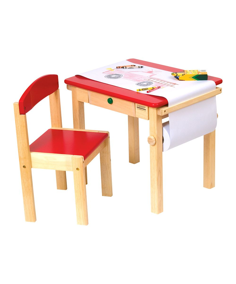 Preschool Art Table. Red Art Table \u0026 Chair Set | Daily Deals For Moms