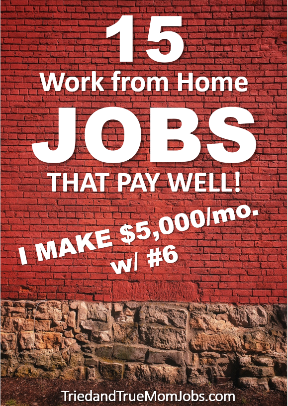 15 Best Work From Home Jobs In 2020 That Pay Well I Make 5 000 Mo W 6 Work From Home Tips Work From Home Jobs Legitimate Work From Home
