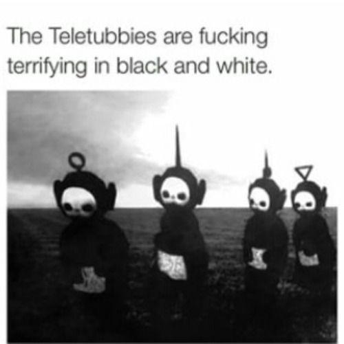 Black And White Teletubbies