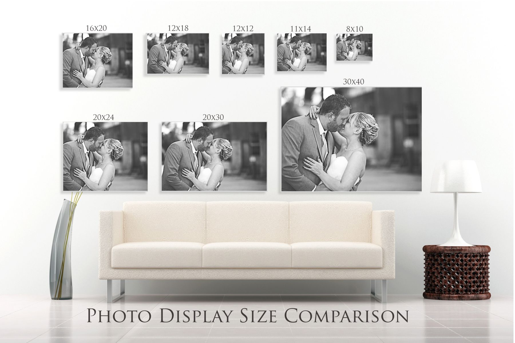 Free Lightroom Template For Wall Size Configuration Demonstrations With Clients Make This In The Lr Print Lightroom Print Templates Lightroom Photo Displays