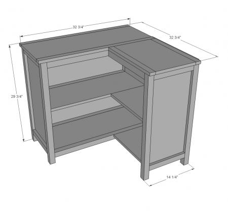Corner Bookshelf Use Concept To Build Storage Bench