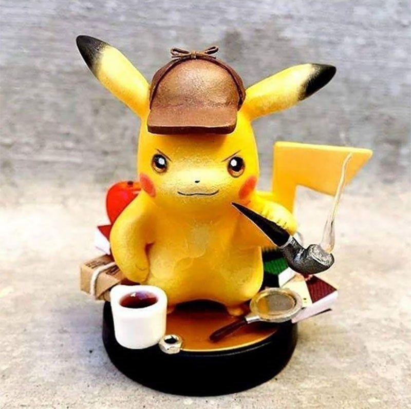Somebody Already Has A Custom Detective Pikachu Amiibo Pikachu