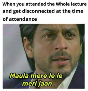 Disconnected During Lecture Attendance
