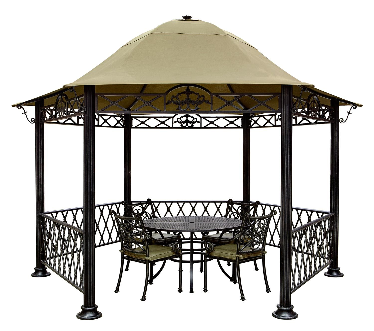 metal frame gazebo electricity Metal Gazebo Kits