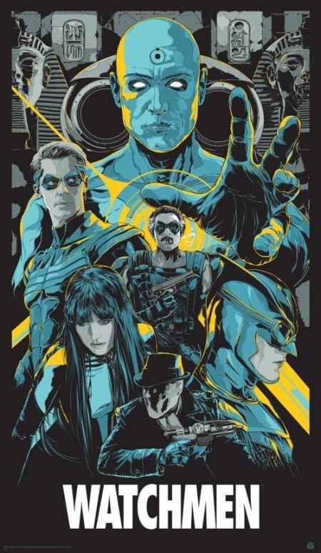 Ken Taylor ilustrações poster cartaz filmes silkscreen Watchmen: O Filme