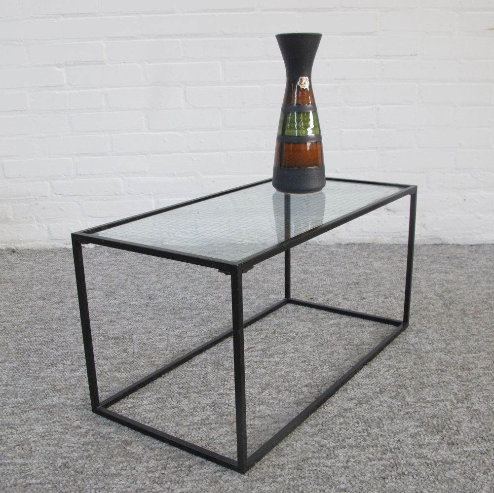 Vintage Metal Wire Glass Side Table 1960s Glass Side Tables Side Table Wired Glass [ 1000 x 1001 Pixel ]