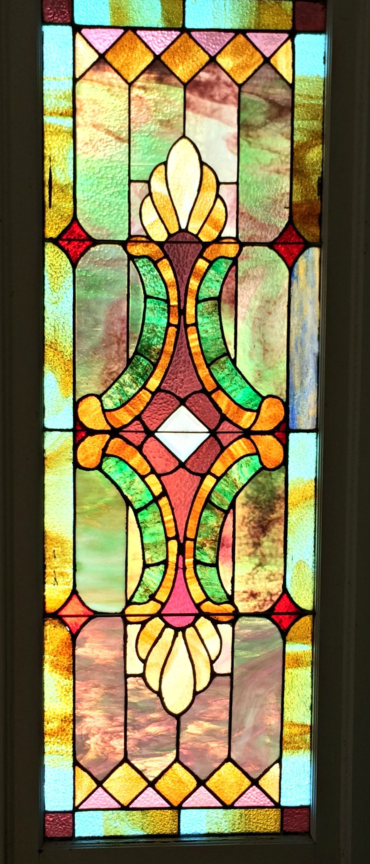 Vintage Stained Glass Window In A 1940s House In Lorena Tx Making Stained Glass Stained Glass Panels Stained Glass