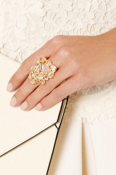Pippa Small 18-karat Gold Herkimer Diamond Ring 0uNLHF7zx