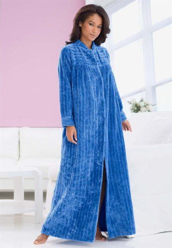 Only Necessities Plus Size Ribbed Chenille Robe By Comfort Choice ... c70341e11