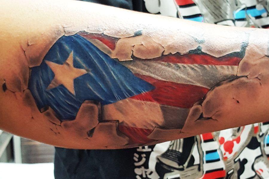 Puerto Rico Flag Puerto Rico Tattoo Cuban Tattoos Flag Tattoo