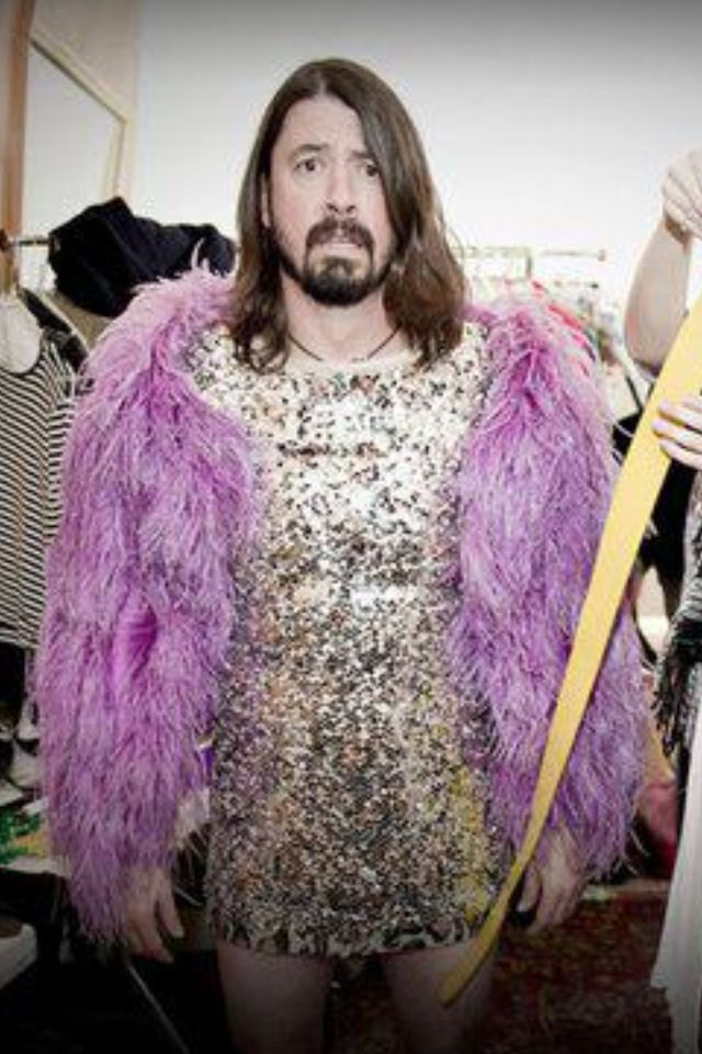 Dave Grohl in drag