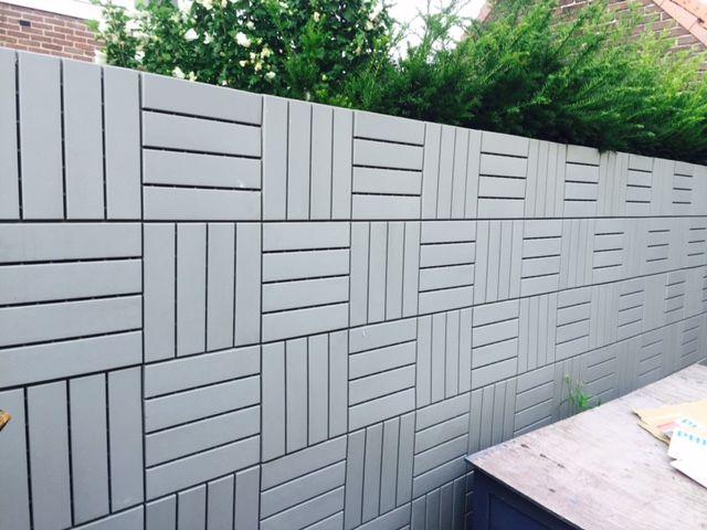 Ikea Runnen From Floor To Wall Ikea Garden Ikea Outdoor Deck Tile