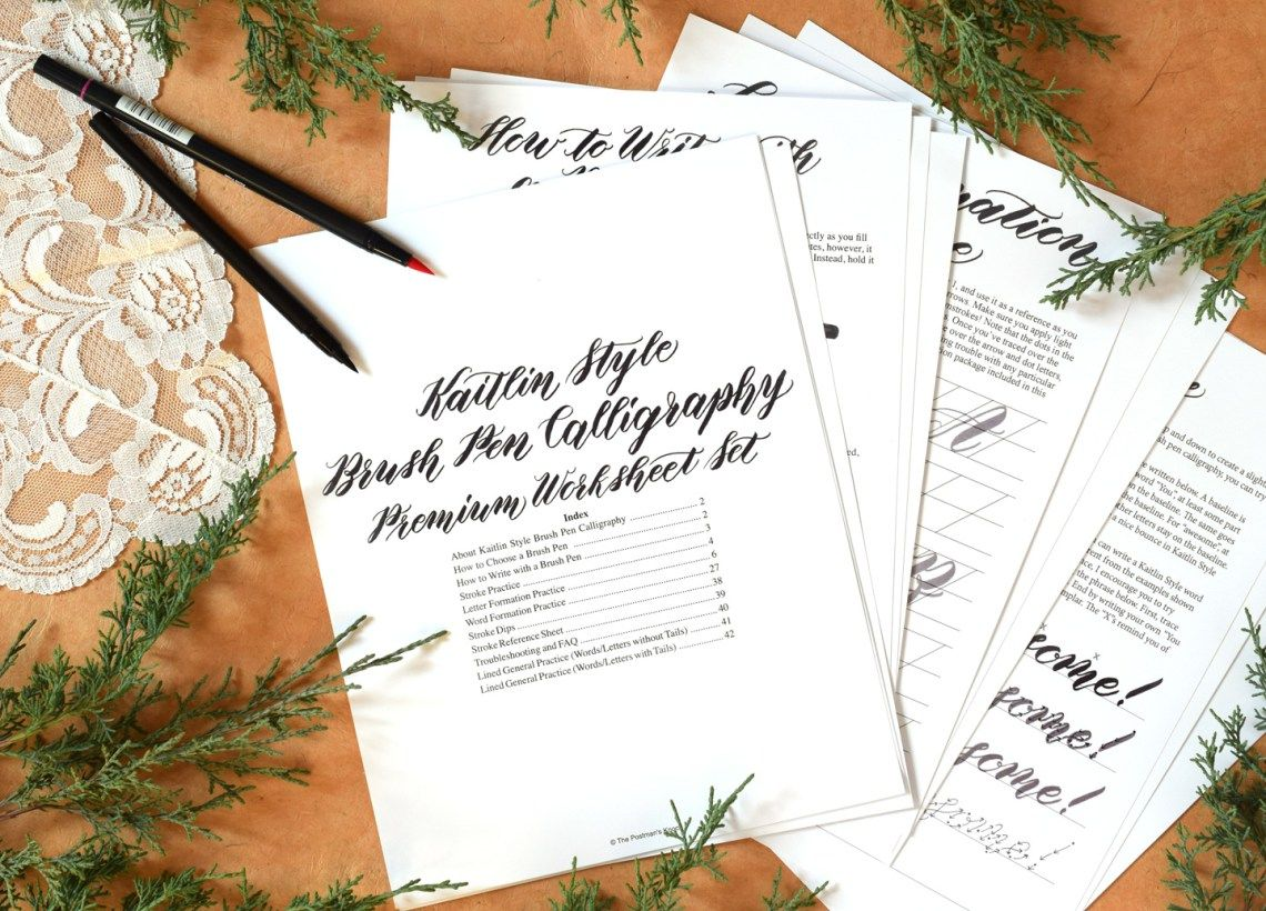Introducing Tpk S First Brush Pen Calligraphy Worksheet Set