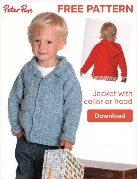 8608c25b7 Free pattern  Peter Pan Jacket with Collar or Hood
