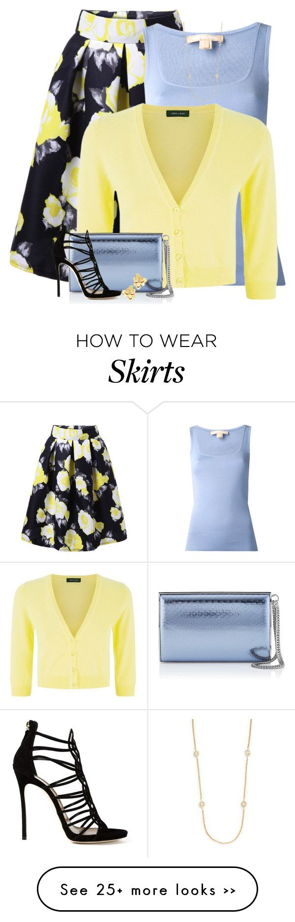 Look - How to yellow wear skirt polyvore video
