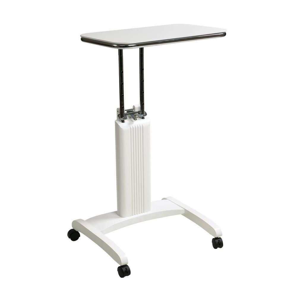 Ospdesigns Precision White Laptop Stand With Wheels Psn620 Laptop Stand Portable Laptop Table Office Star