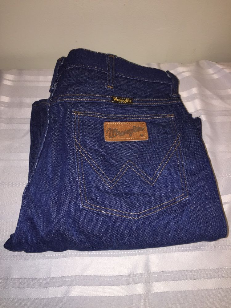 9673bec8 WRANGLER Men's Cowboy Cut Rigid Slim Fit Dark Wash Blue Denim Jeans 936DEN  NWT   eBay