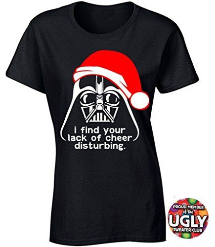 Womens Star Wars Ugly Christmas Tshirt Darth Vader Red I Find Your