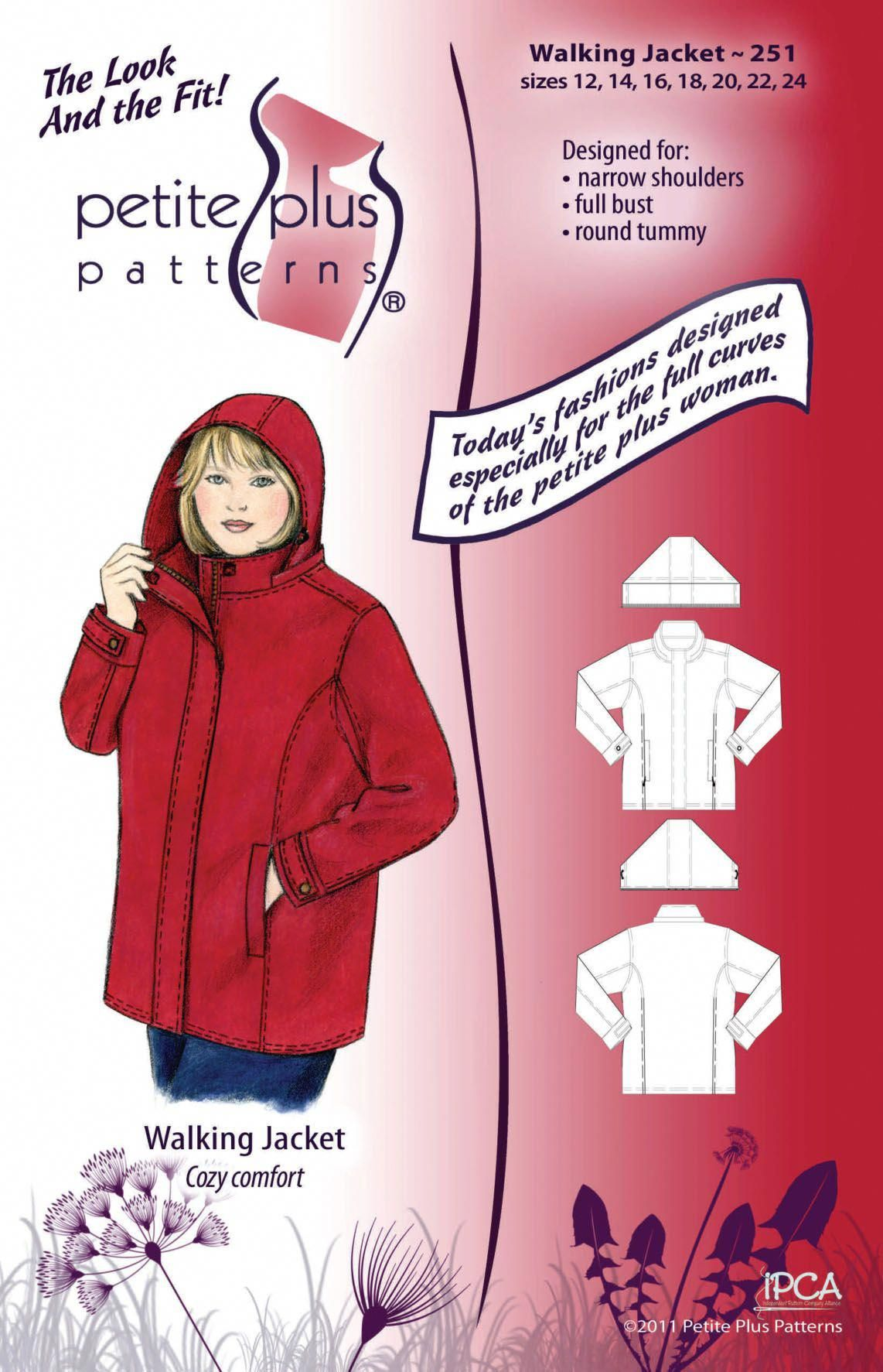 Purchase Petite Plus Patterns 251 Walking Jacket and read its pattern reviews. Find other Coat/Jacke...