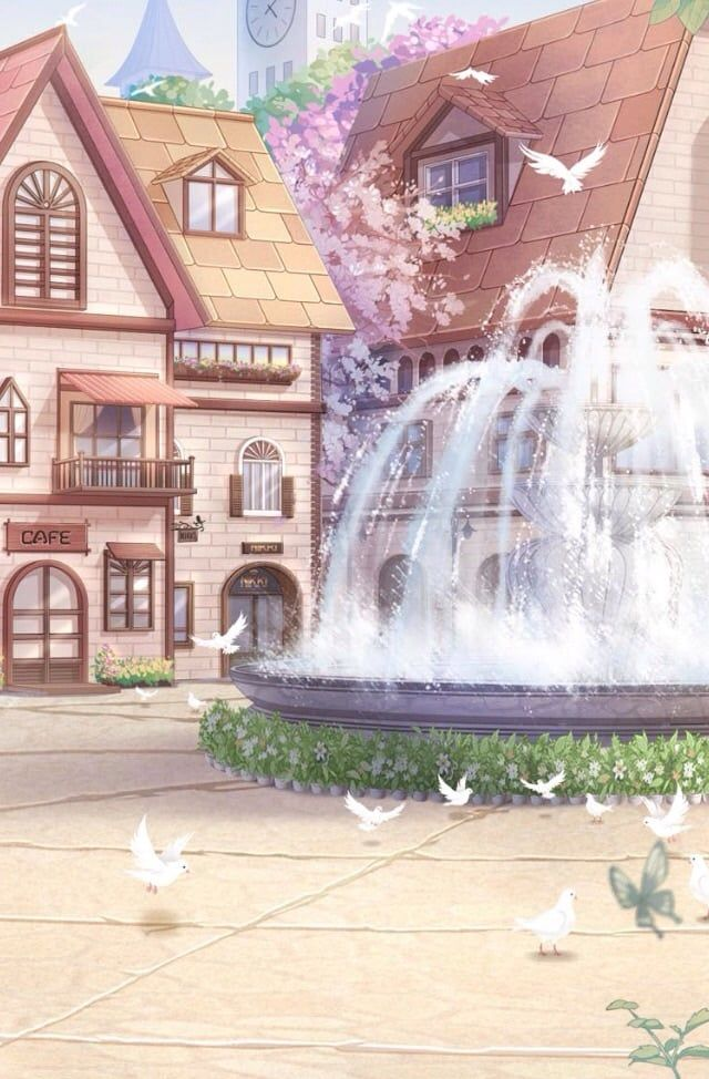 Background: Fountain Town - adjustable  uploaded by 𝒻𝓇𝓊𝒾𝓉*ೄ
