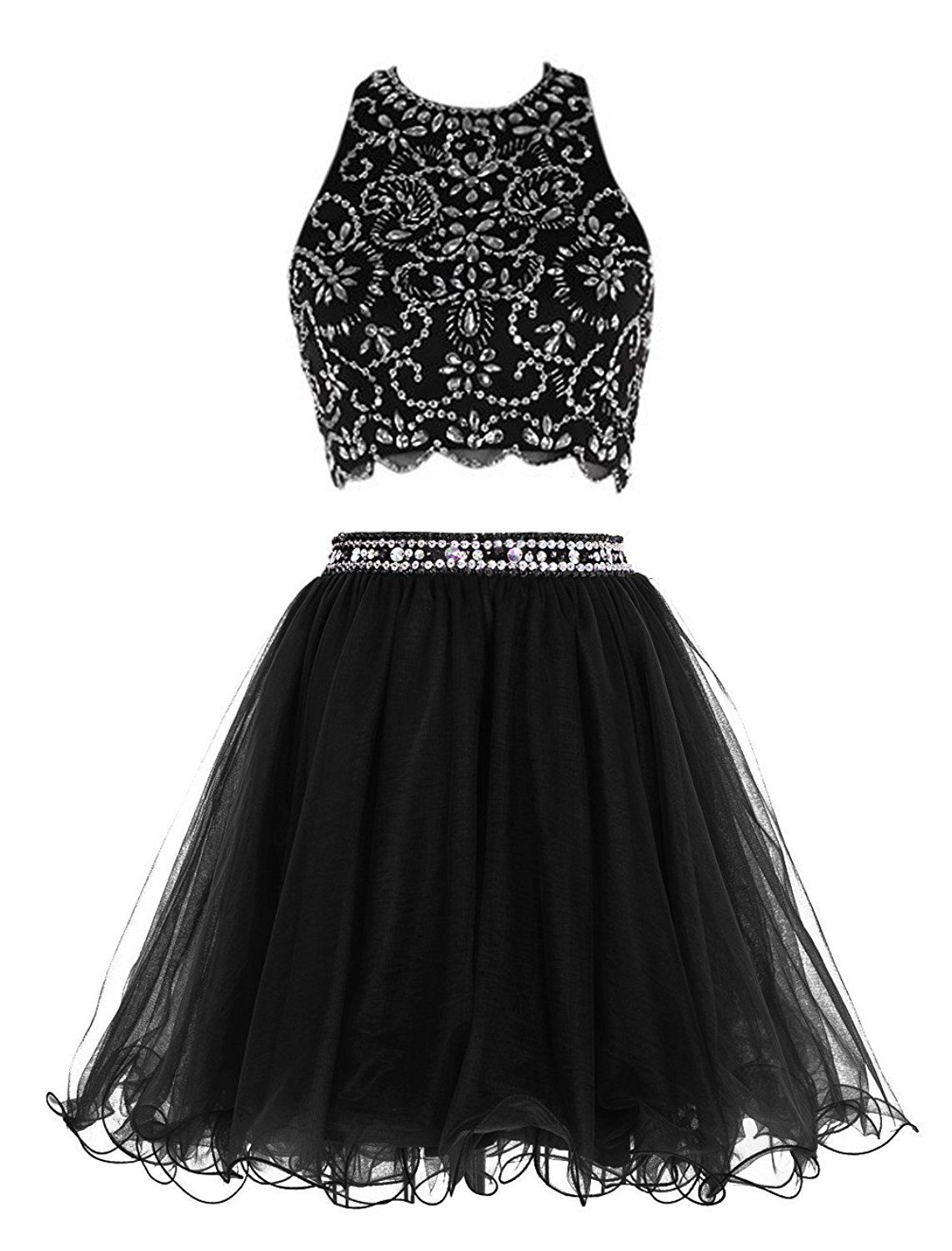 Lisa short two piece prom exquisite bead homecoming dress for